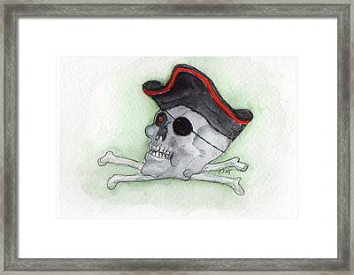 Framed Print featuring the painting Pirate Greetings by Doris Blessington