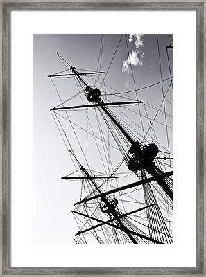 Pirate Ship Framed Print by Joana Kruse
