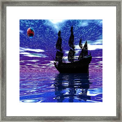 Pirate Ship Framed Print by Matthew Lacey