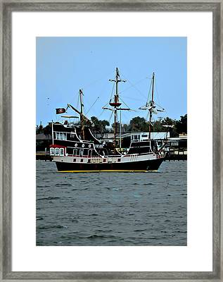 Pirate Ship Of The Matanzas Framed Print by DigiArt Diaries by Vicky B Fuller