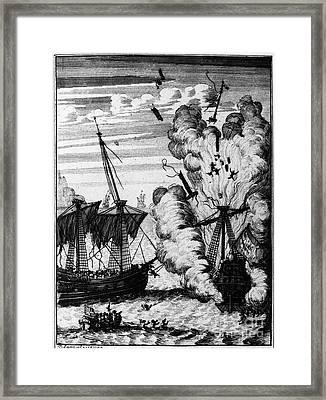 Pirate Ships Framed Print by Granger