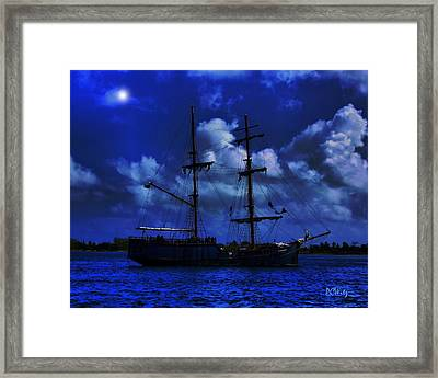 Pirate's Blue Sea Framed Print