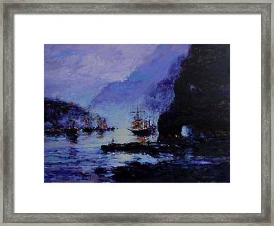 Pirate's Cove Framed Print by R W Goetting