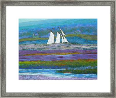 Pirates On The Lahave River Framed Print by Rae  Smith PSC