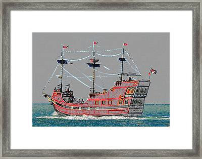 Pirates Ransom Framed Print by David Lee Thompson