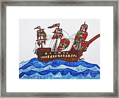 Pirate's Ship Framed Print by Stephanie Ward