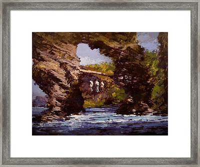 Pirate's Warning Framed Print by R W Goetting