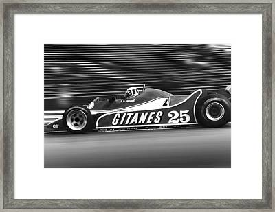 Pironi At Speed Framed Print by Mike Flynn
