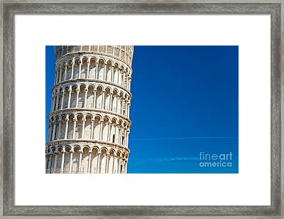 Framed Print featuring the photograph Pisa Leaning Tower by Luciano Mortula