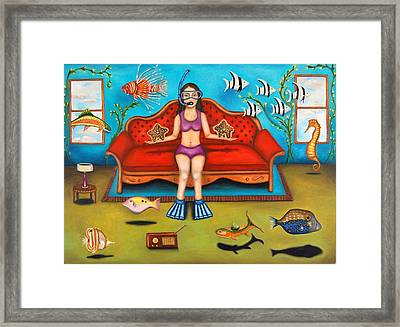 Pisces 3 Framed Print by Leah Saulnier The Painting Maniac