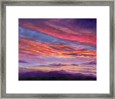 Pisgah Sunset Framed Print by Jeff Pittman