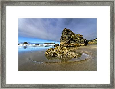 Pistol Beach Framed Print by Debra and Dave Vanderlaan