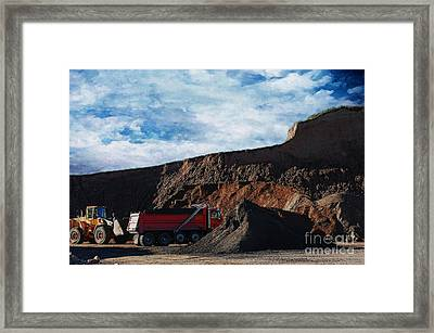 Pit Bulls Framed Print by The Stone Age