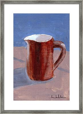 Framed Print featuring the painting Pitcher by Lou Belcher