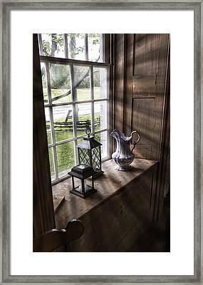 Pitcher Window Framed Print