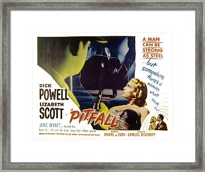 Pitfall, Dick Powell, Lizabeth Scott Framed Print