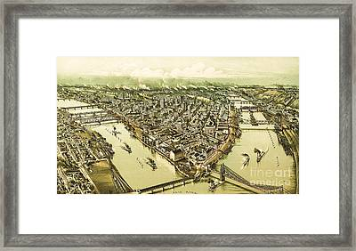 Pittsburg Pennsylvania Framed Print by Pg Reproductions