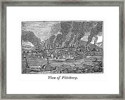 Pittsburgh, 1836 Framed Print by Granger