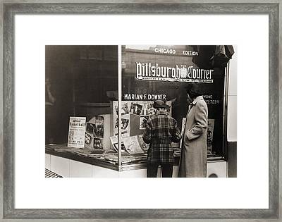 Pittsburgh Courier Storefront Framed Print by Everett