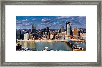 Pittsburgh Framed Print by David Hahn