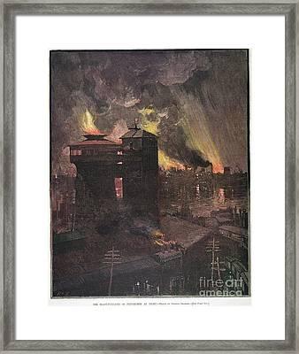 Pittsburgh: Furnaces, 1885 Framed Print by Granger