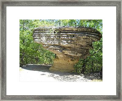 Framed Print featuring the photograph Pivot Rock by Mark McReynolds