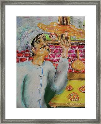 Pizza Chef Framed Print by Emily Michaud