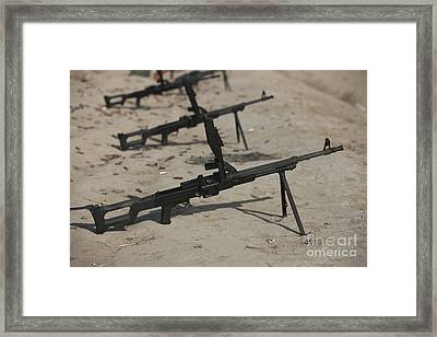 Pk General-purpose Machine Guns Stand Framed Print by Terry Moore