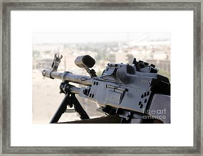 Pkm 7.62 Machine Gun Nest On Top Framed Print by Terry Moore
