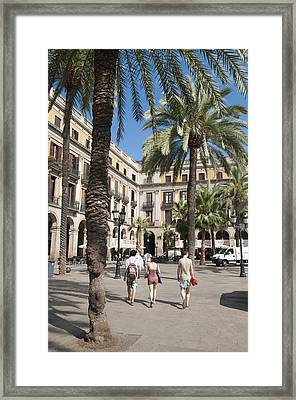 Placa Reial Barcelona Spain Framed Print by Matthias Hauser