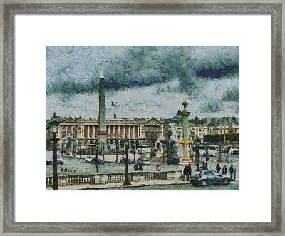Place De La Concorde Framed Print by Aaron Stokes
