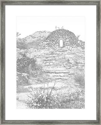 Place Of The Tomb Framed Print by Mickey Harkins