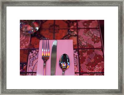 Place Setting Framed Print by Sam Bloomberg-rissman