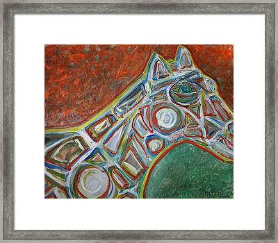 Place The Bet Ameri-go-round  Framed Print by Shadrach Ensor