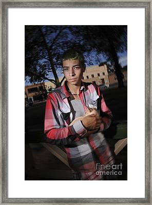 Framed Print featuring the photograph Plaids by Sherry Davis