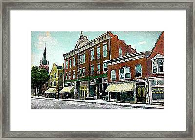 Plainfield Theatre In Plainfield N J 1907 Framed Print by Dwight Goss