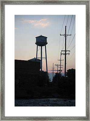 Framed Print featuring the photograph Plainwell Paper Mill II by Penny Hunt