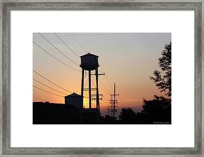 Framed Print featuring the photograph Plainwell Paper Sunset by Penny Hunt