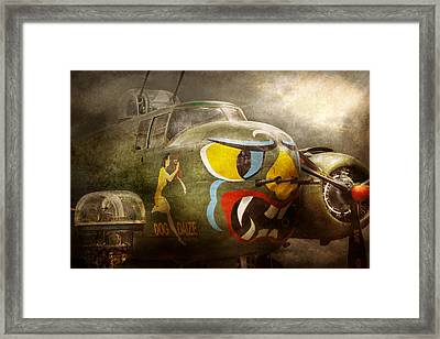 Plane - Pilot - Airforce - Dog Daize Framed Print by Mike Savad