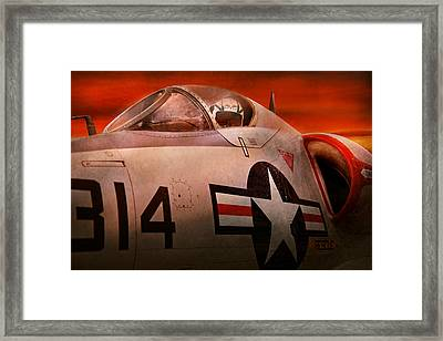 Plane - Pilot - Airforce - Go Get Em Tiger  Framed Print by Mike Savad