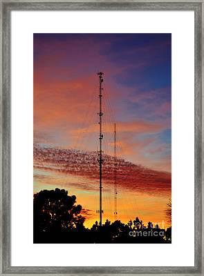 Plane Communication Two Framed Print