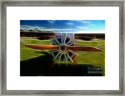 Plane Ready For Take Off Framed Print by Paul Ward