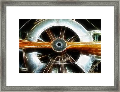 Plane Wood And Chrome Framed Print by Paul Ward