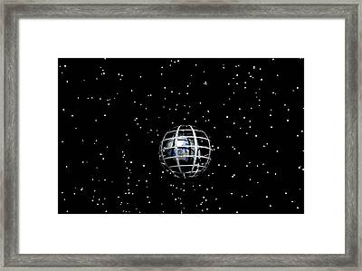 Planet And Stars Framed Print
