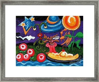 Planet Fantastic Framed Print by Genevieve Esson
