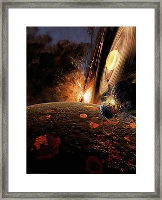 Planet Formation Framed Print by Don Dixon