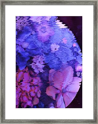 Planet Of Flowers Framed Print by Anne-Elizabeth Whiteway