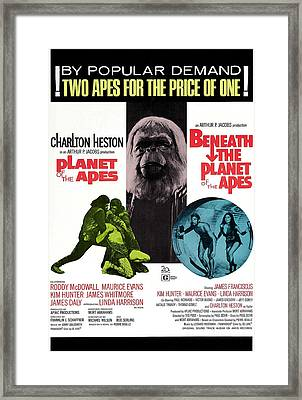 Planet Of The Apes, 1968 Framed Print by Everett