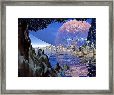 Planet Rising Framed Print