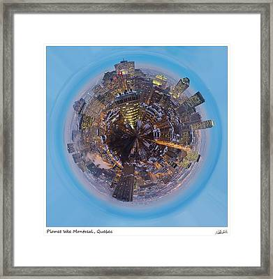 Planet Wee Montreal Quebec Framed Print by Nikki Marie Smith
